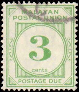 Malaya - Federation of Malaya #J14, Incomplete Set, 1945-1949, Used