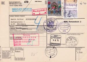 Liechtenstein 1975 5fr. Arms & Municipalities used on Customs Document in Schaan