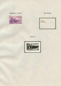 #904E KENTUCKY STATEHOOD 3¢ 1942 B.E.P. PHOTO ESSAY W/ FINISHED STAMP BT8127