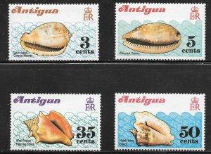 Antigua  (1972)  - Scott # 288 - 291, MNH
