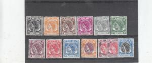 PENANG 1954 VALUES TO 50C UNMOUNTED MINT