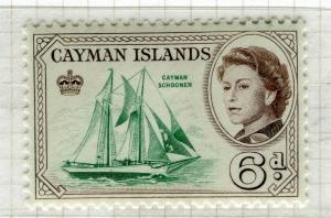 CAYMAN ISLANDS; 1962 early QEII pictorial issue fine Mint hinged 6d. value
