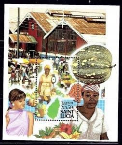St Lucia 922 MNH 1988 Tourism S/S     (ap1136)