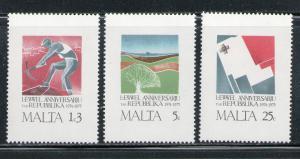 MALTA 1975 MNH SC.501/503 Malta Republic
