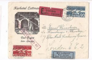 Yugoslavia 1952 Uprated PC to Italy (bab)