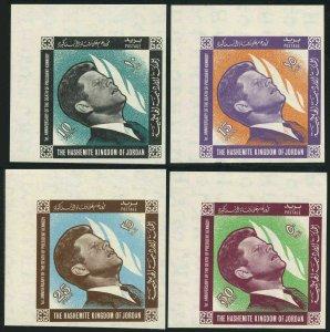 Jordan 506-509 A,B,509a,MNH.Michel 516-519 A,B,Bl.23. John F.Kennedy,1965.