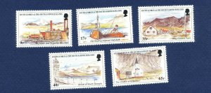 SOUTH GEORGIA - # 225-229; SG 283/7  - MNH -  Island Views - 1999