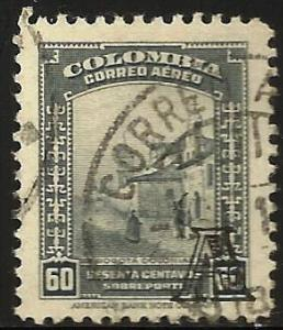 Colombia 1948 Air Mail Scott# C158 Used