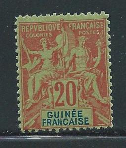French Guinea Navigator 9 Rare Fournier Forgery For Refer...