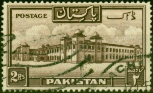 Pakistan 1954 2R Chocolate SG39a P.13.5 Fine Used