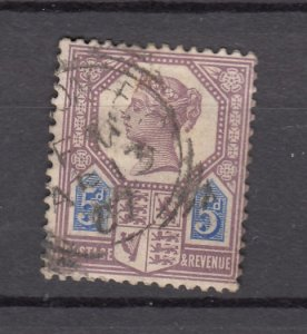 J27525 1887-92 great britain used #118 queen