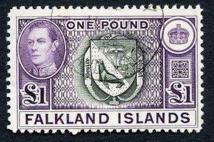 Falkland Is SG163 One Pound CDS  Cat 65 pounds