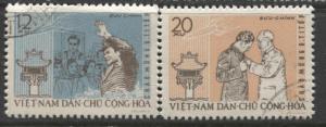 Dem.Rep.Viet Nam - Scott 211- Gherman Titov -1962 - FU -Short Set of 2 Stamps