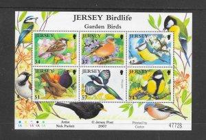 BIRDS - JERSEY #1264a GARDEN BIRDS  MNH