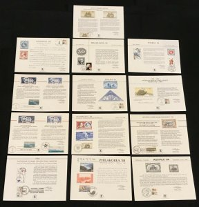 US USPS Souvenir Cards Mixed Lot of 24 1979-84 w/ Cancels