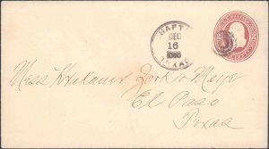 Presido County Shafter ( Postal History ), 1888