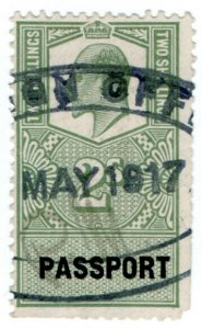 (I.B) Edward VII Revenue : Passport 2/-