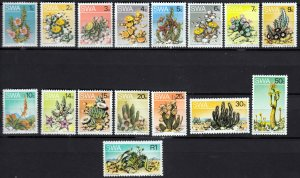 South West Africa SWA 1973-79 - Succulent Plants MNH set # 343-358