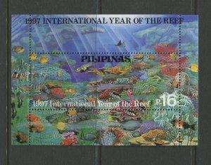 STAMP STATION PERTH Philippines #2498 Intl. Year Reef Souvenir Sheet MNH CV$5.00