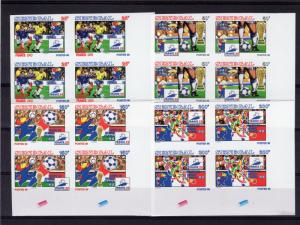 Senegal 1998 World Cup France Block of 4 Imperforated Sc # 1308-131  MNH VF