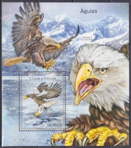 2014 Sao Tome and Principe 5603/B980 Birds of prey 10,00 €