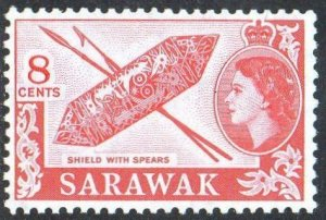 Sarawak 1957 8c Shield with spears MH