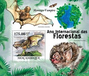 Mozambique MNH S/S Year Of Forest Bats 2011