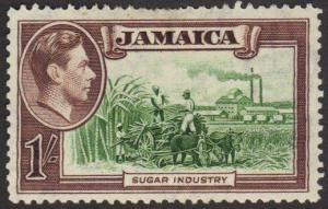 Jamaica #125 MH 1sh sugar fields