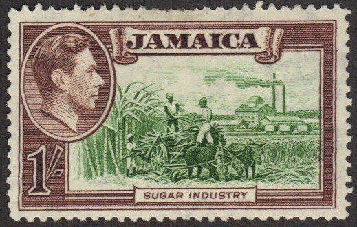Jamaica #125 MH 1sh sugar fields