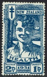 NEW ZEALAND 1931 SMILING BOY HEALTH STAMP 2D