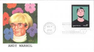 #3652 Andy Warhol Fleetwood FDC