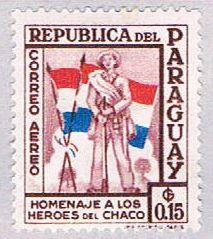 Paraguay C234 MLH Soldier and flags 1957 (BP30810)