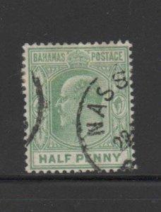 BAHAMAS #44  1906  1/2p  KKING EDWARD VII    F-VF USED