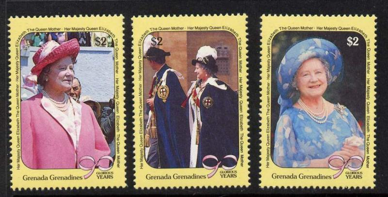 Grenada Grenadines 1186-9 MNH Queen Mother 90th Birthday, Concorde, Aircraft