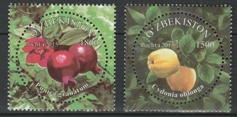 Uzbekistan 2015 Fruits 2 MNH stamps