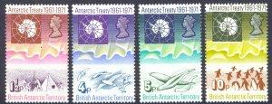 British Antarctic Territory Sc# 39-42 MNH 1971 Atlantic Treaty 10th