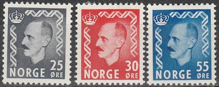 Norway #322-4  F-VF Unused  CV $28.40