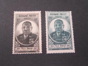 French Guiana 1945 Sc 171-2 set MH