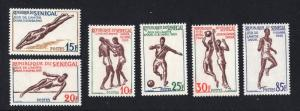 Senegal    #212-217  1963  MH  athletes   friendship games