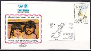 Uruguay, Scott cat. 1046. Year of the Child issue. First day cover. ^