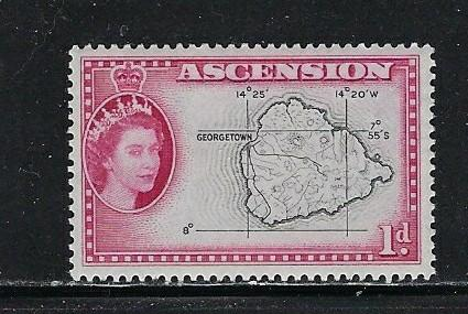 Ascension 63 Hinged 1956 issue