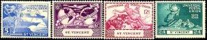 UPU, Universal Postal Union 75th Anniv, St-Vincent SC#170-3 Mint set
