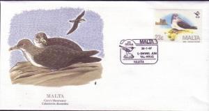 Malta FDC SC# 693 Cory's Shearwater L76