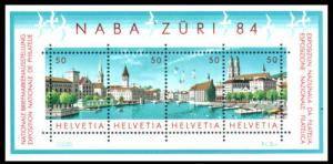 SWITZERLAND 1984 National Philatelic Exhibition NABA ZURI 84
