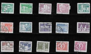Germany DDR 1980-81 Complete Set #2071-2085 Postally Used/CTO