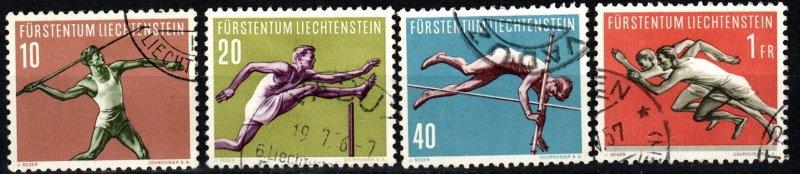 Liechtenstein #297-300  F-VF Used CV $16.45 (X8689)