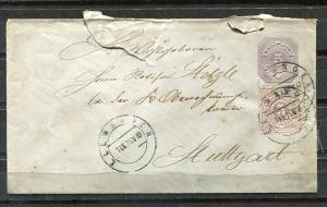 Germany 1879 Uprated  Postal Stationary Cover Stuttgart