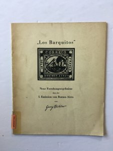 Argentina - Los Barquitos, the first issue of Buenos Aires. Buhler 1955
