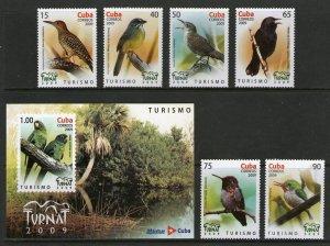 RO) 2009 CUBA - CARIBBEAN, BIRDS - COLAPTES - TORREORNIS - FERMINIA - ARATINGA