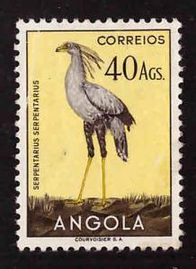 Angola  Scott 355 MH* Key Bird stamp 1951 Bird set hinge remnant